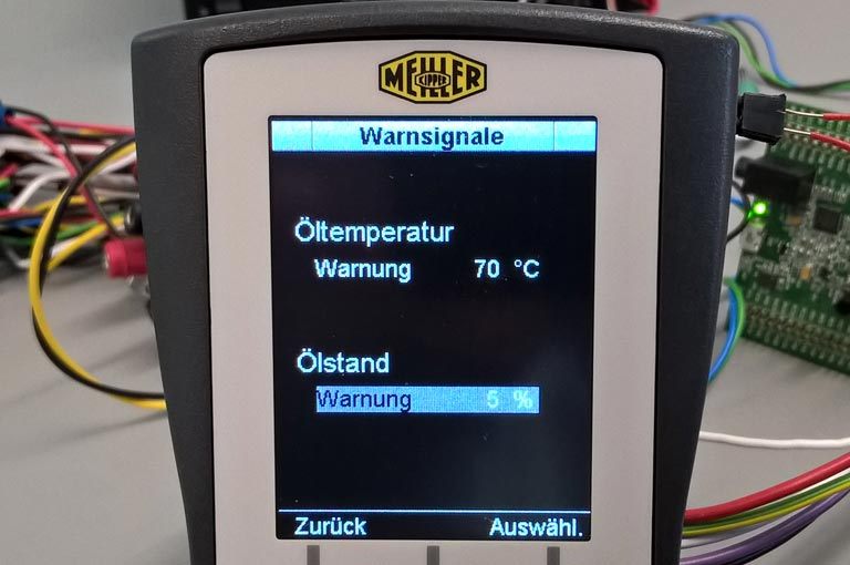 Kommunalhydraulik Bedienteil Display