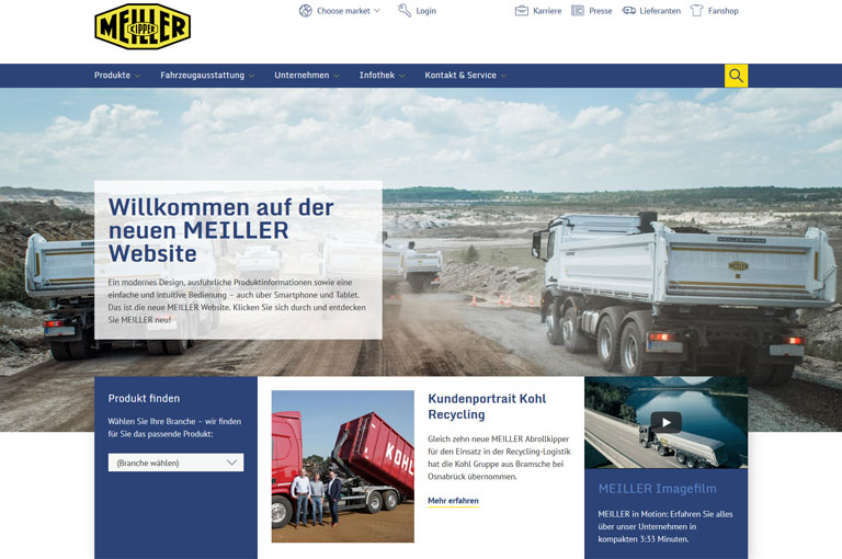 Neue MEILLER Website