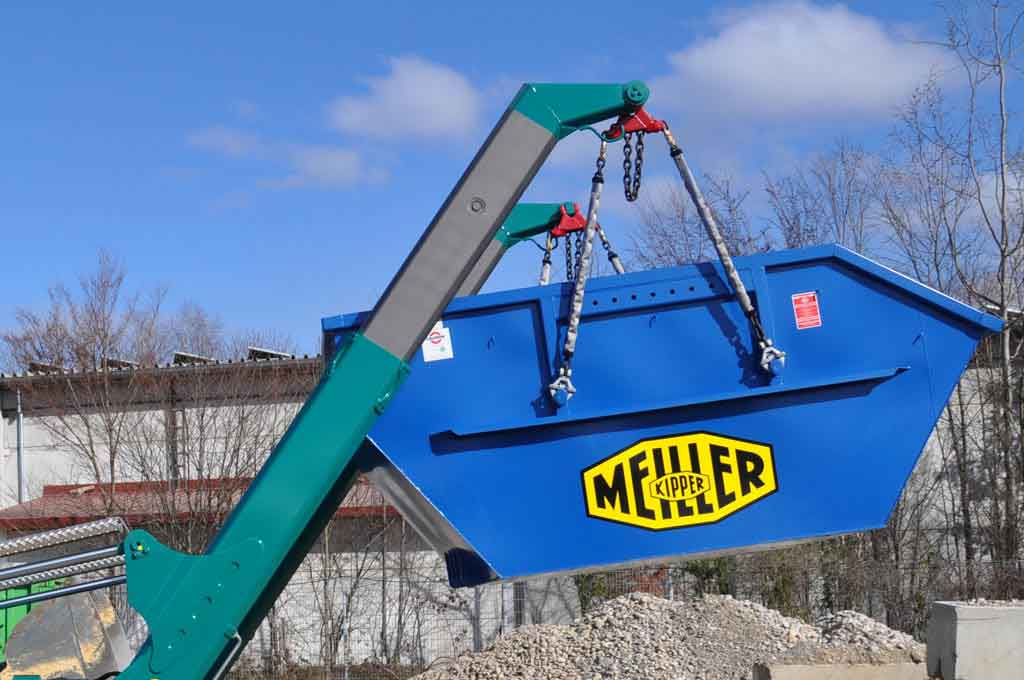 Skip handler telescopic equipment