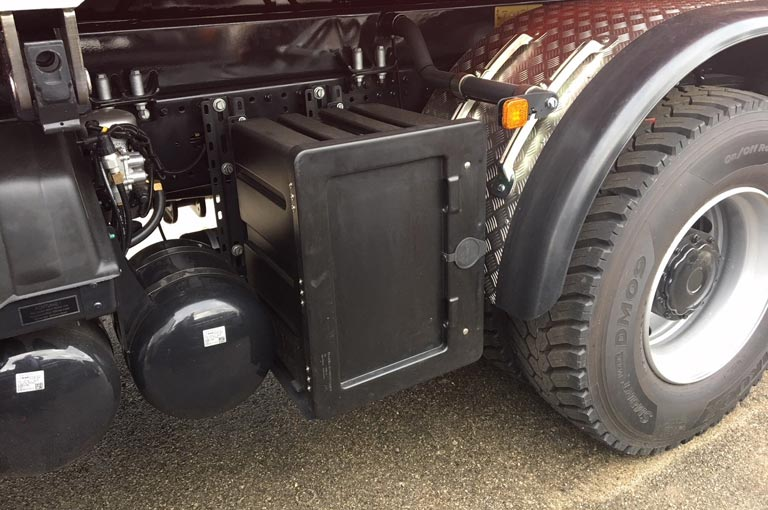 Toolbox for rear tipper