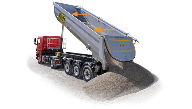 Tarpaulin systems for tipping semi-trailers