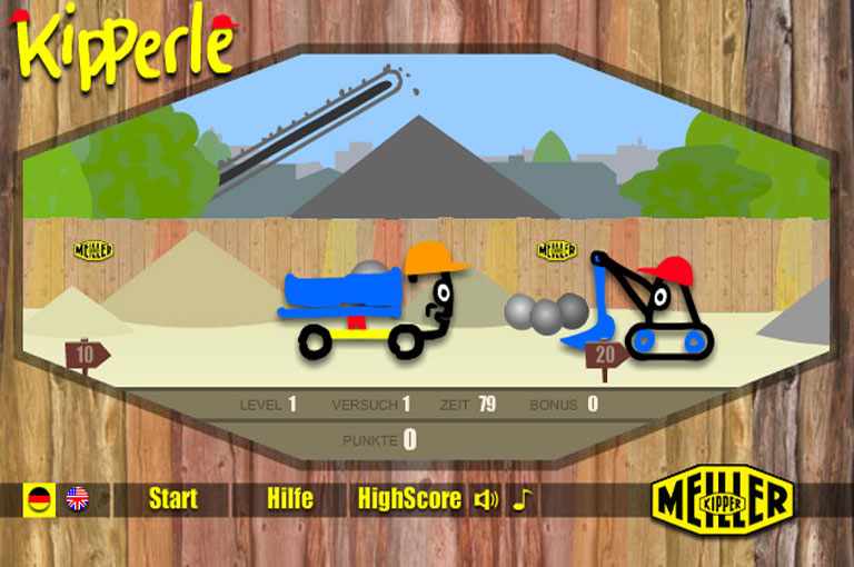 Screenshot of Kipperle game