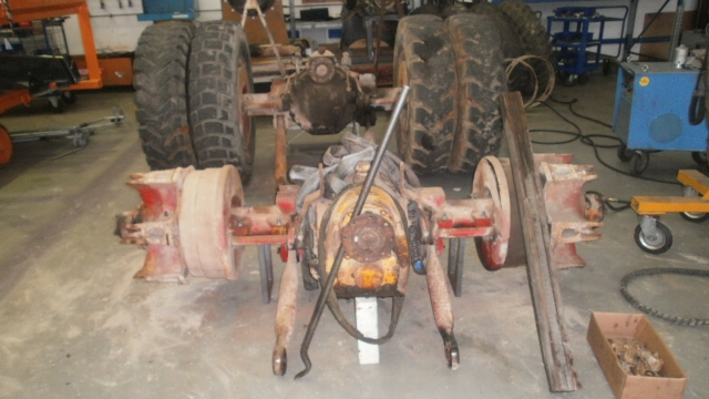 Removed Kaelble rear axles