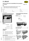 Inquiry and order form for lateral MEILLER roll-up tarpaulins for rear tippers